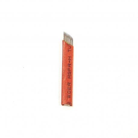 Coppia di Lame per microblading 5a-5b, peli medi e sottili