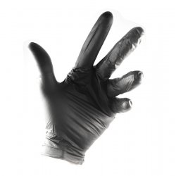 black Nitrile gloves without powder with non-slip grip