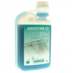 Detergente enzimatico Aniosyme X 3, decontaminante, 1 lt con dosatore
