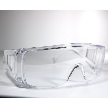 Single-lens transparent protective glasses