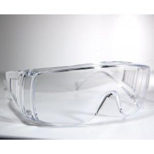 Occhiali protettivi monolente trasparenti
