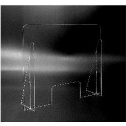 Pannello Parafiato antibattero in Plexiglass, spessore 3mm, 80x66cm