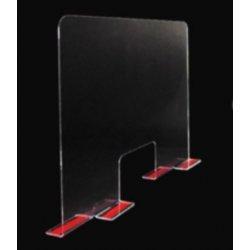 Pannello Parafiato antibattero in Plexiglass con biadesivo, spessore 3mm, 100x61cm