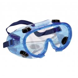 Panoramic safety glasses with anti-fog lens