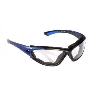 Occhiali protettivi con lente specchiata in policarbonato antiappannamento