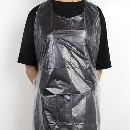 disposable apron with waterproof polyethylene bib