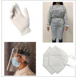 Hairdresser Kit - Gloves + kimono + Masks + disinfectant