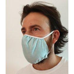 Mascherina protettiva in tessuto doppio strato