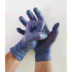 Guanti in nitrile blu senza polvere