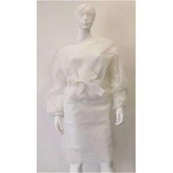 Camice in TNT monouso bianco, con polsini