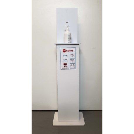 Colonnina STOP GERMS con 6 flaconi dispenser