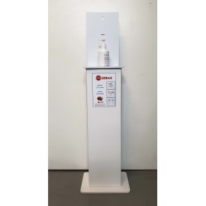 STOP GERMS hygiene point - column for hand gel
