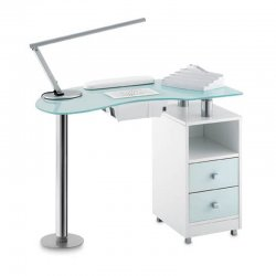 GLASS TABLE for nail reconstruction, with suction