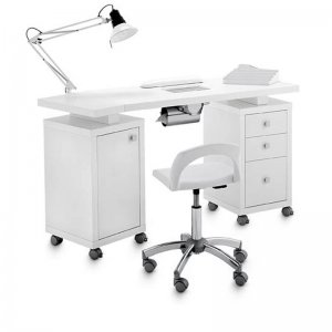 DOUBLE SQUARE TABLE with aspirator