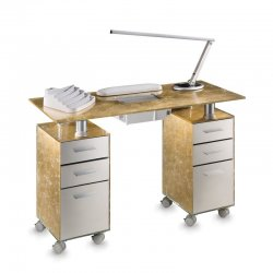 DOUBLE GLASS TABLE for double reconstruction with Superturbo aspirator