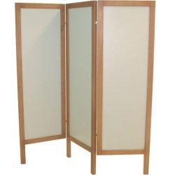 3-door wooden screen in MDF, natural color