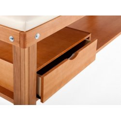 Wooden drawer for beds, natural color
