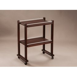 trolley with wheels in solid wood and blockboard, various colors