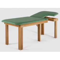 wooden table for ECG with removable pocket  - natural color