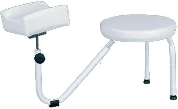 Sgabello pedicure poggiapiedi con seduta