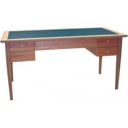 scrivania in legno con doppi cassetti, colori a scelta