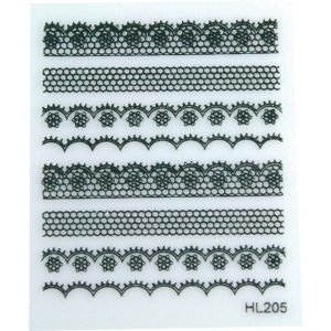 ADHESIVE WITH  DECORATED STRIPS
