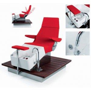 Armchair streamline deck spa pedicure, with pedicure bath and shiatsu massage