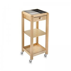 Eco beauty- cart with small wooden tray