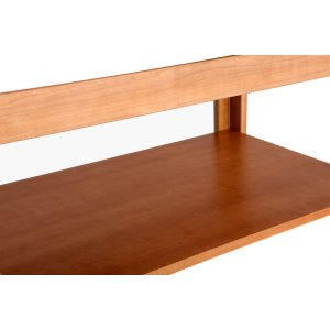 RIPIANO PORTAOGGETTI per lettini in legno, con tinte del legno