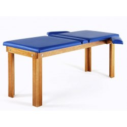 massage table for postural with two joints - with wood colors