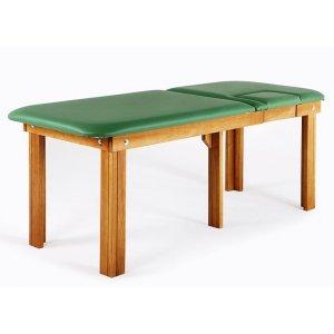 Lettino in legno per ECG con tasca removibile