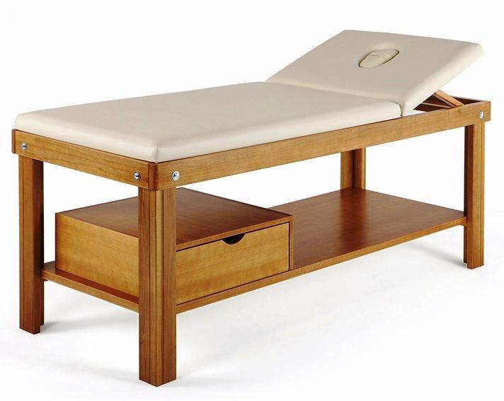Lettino Massaggio Fisso Legno.Elegante Lettino Per Massaggio Con Cassetto Lettino Da Massaggio