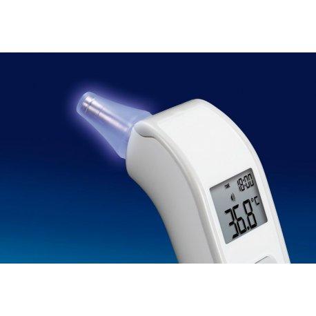 Cl ear ear thermometer, infrared sensor LED illuminator Multifunction