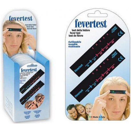 Termometro frontale fevertest riutilizzabile - blister 2 pz.