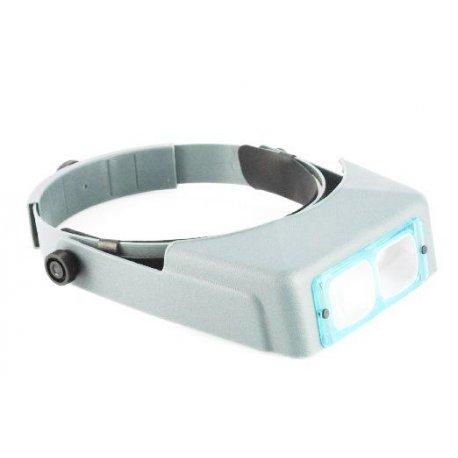 Occhiale head loupe binoculare due lenti in plastica 3,3 ingrandimento