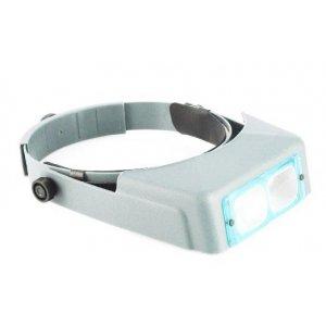 Eyewear head binocular loupe two plastic lenses 3.3 magnification
