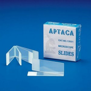 Glass slides bevelled, box 72 pc