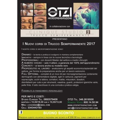 Corso base di trucco semipermanente Otzi Tattoo - full optional