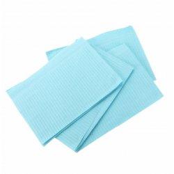Bib polythene blue 33x45, conf. 500pz